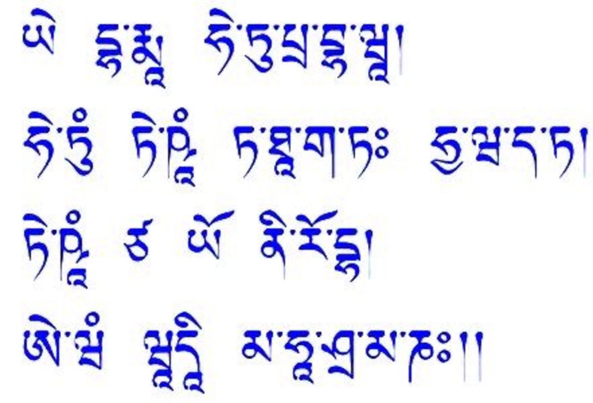 Sanskrit in Uchen script (Tibet)