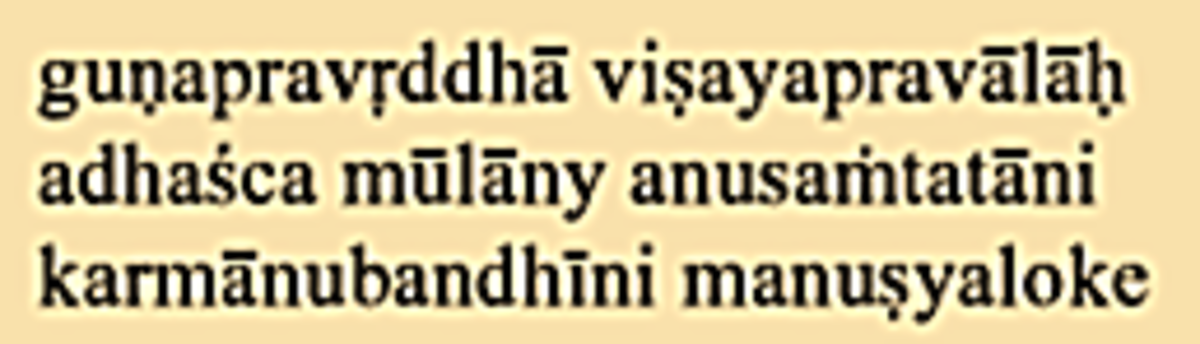 Sanskrit in Roman Script