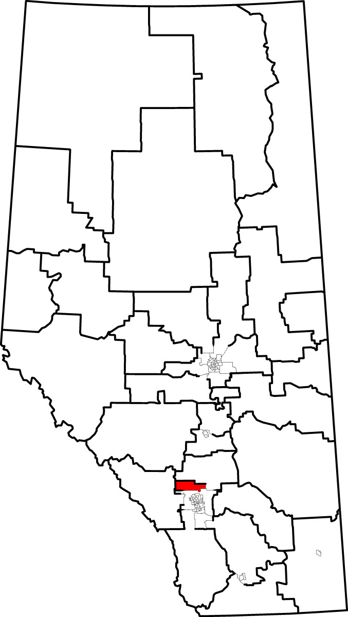 Map location of Airdrie, Alberta