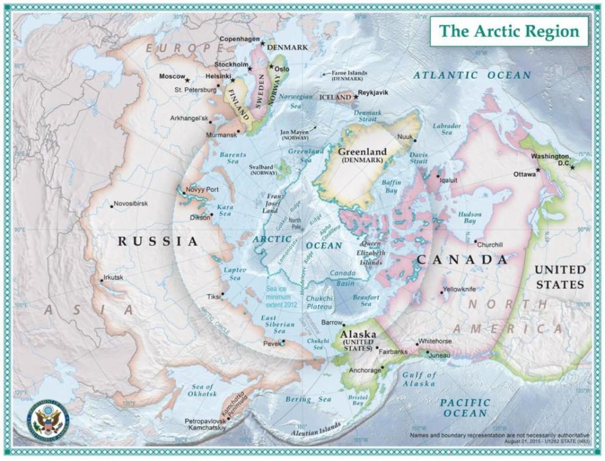 The Arctic Region Map