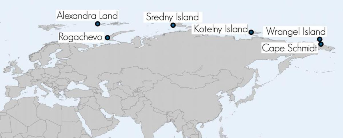 Russia's military bases along the Arctic