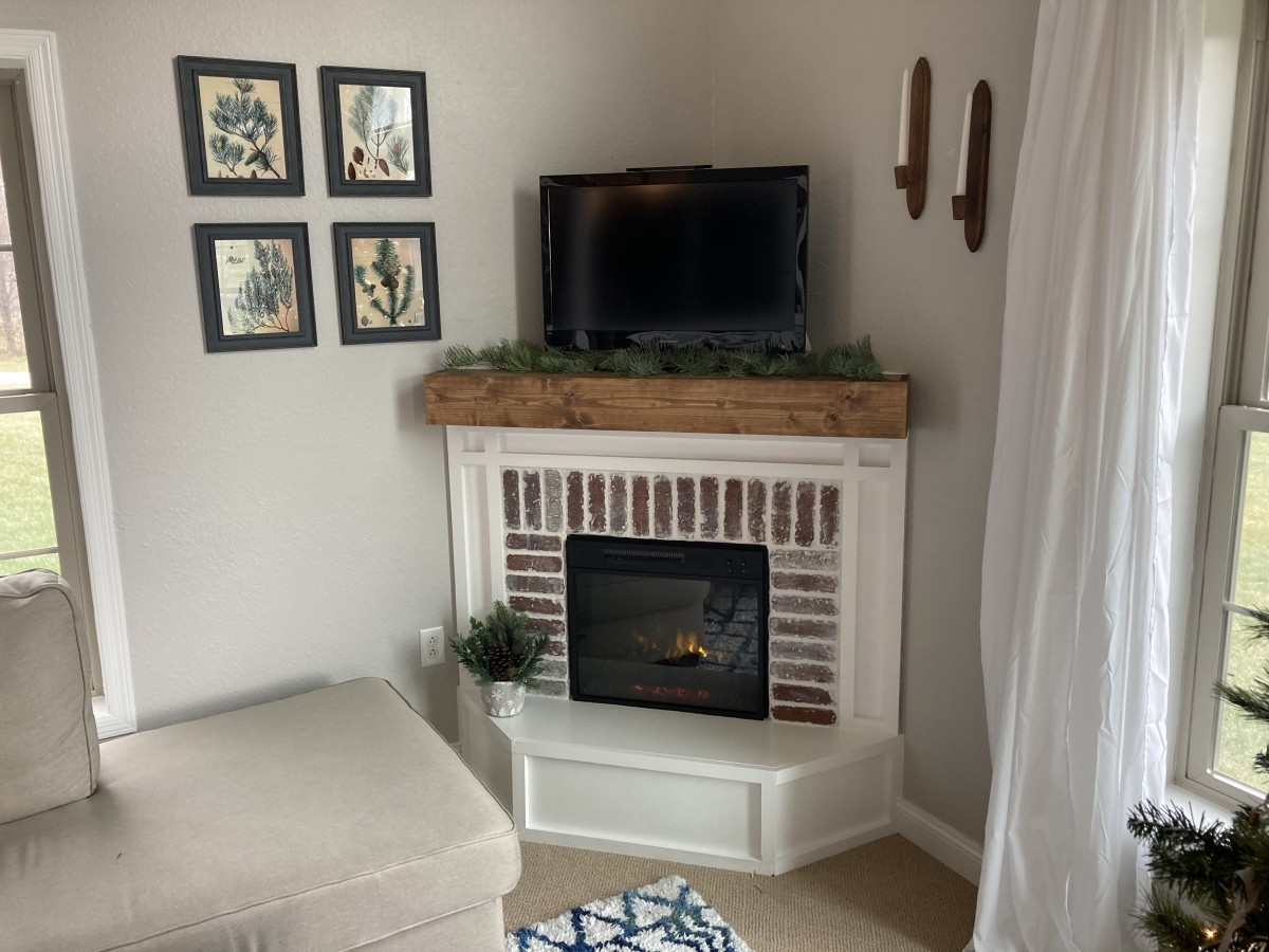 Build a Corner Fireplace for under $300