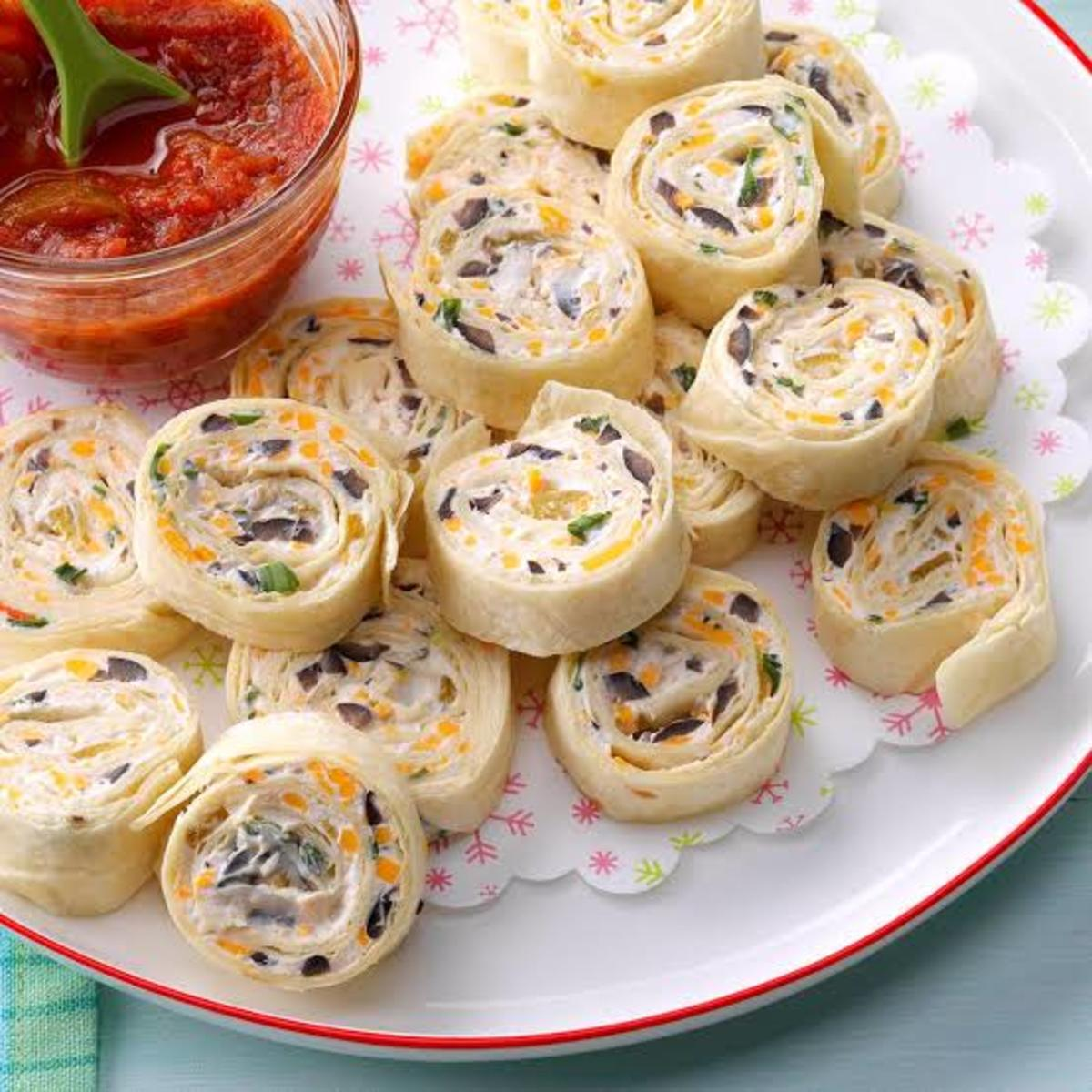 How to Make Mexican Chicken Pinwheels with Tortilla