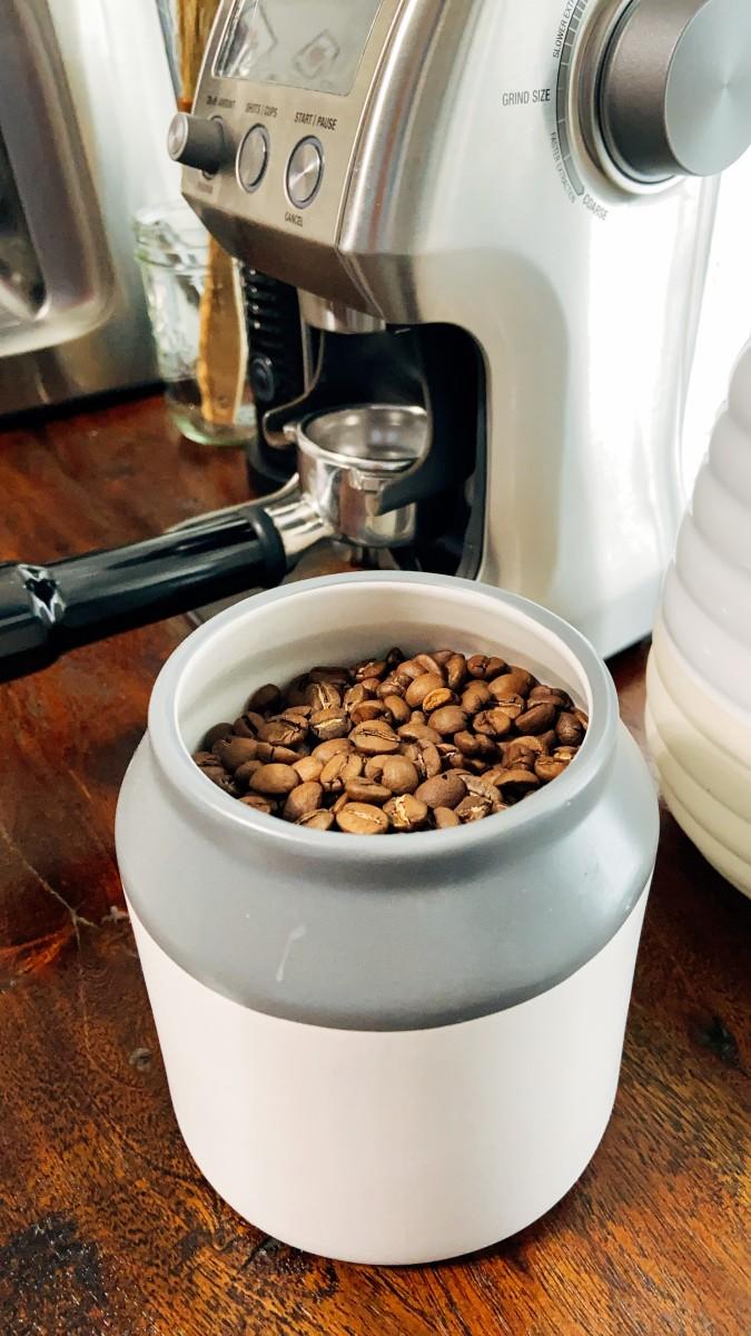 The espresso beans.