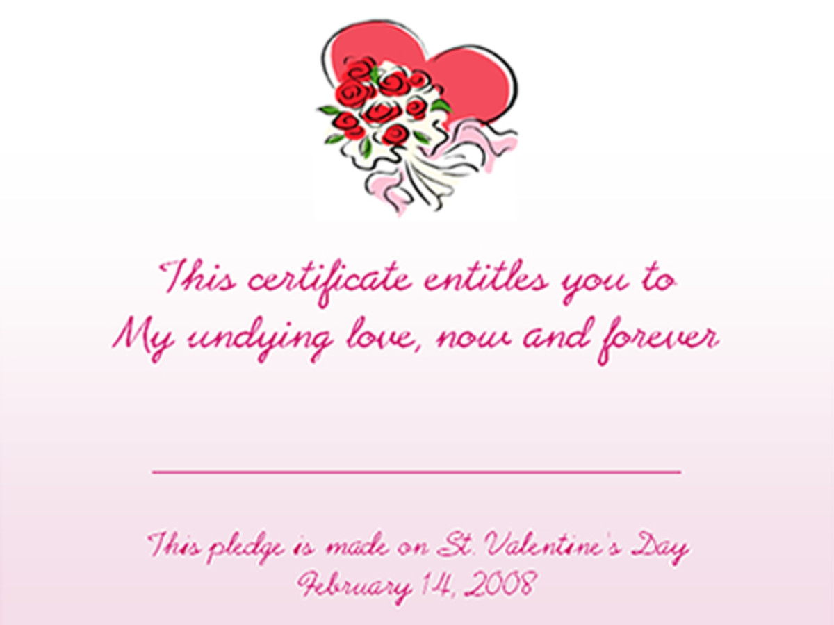 Valentine's Day Love Coupons Design 2