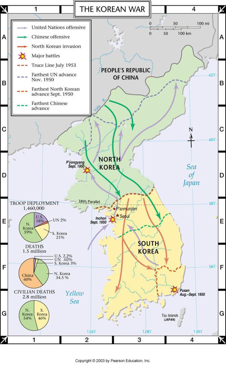 MAP OF KOREAN WAR