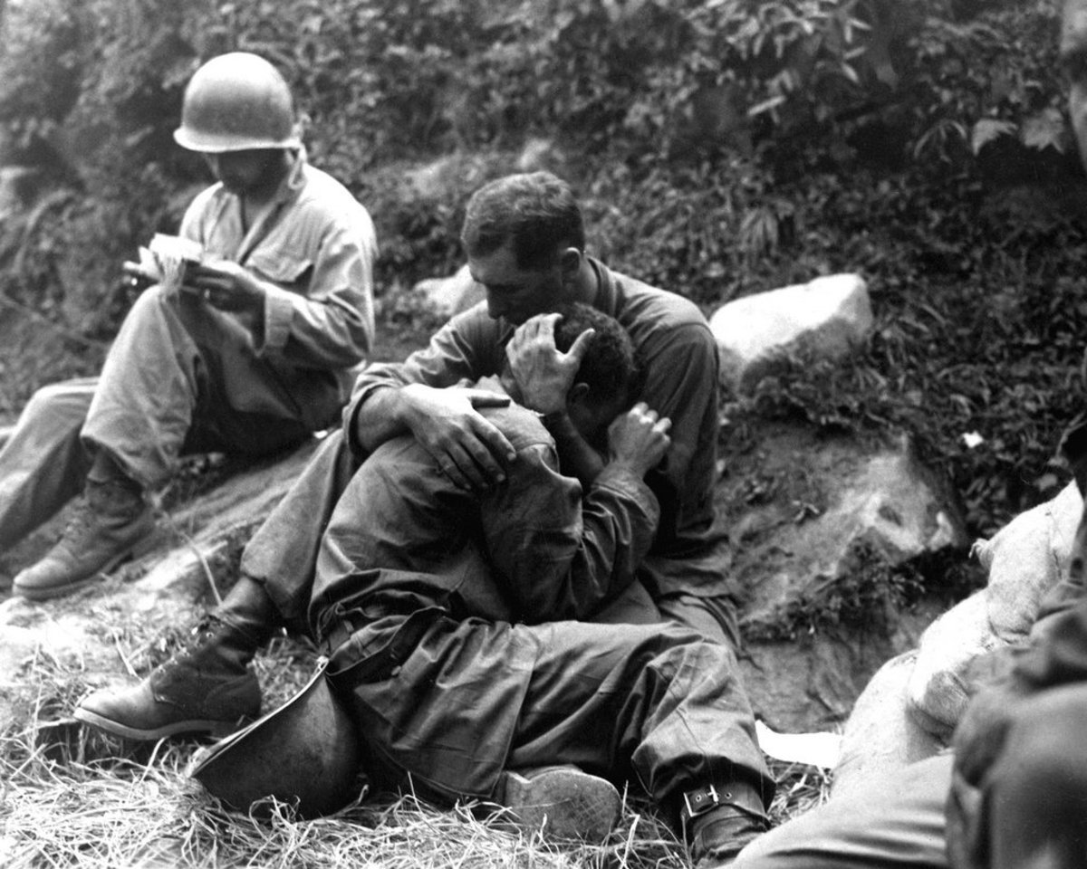 ONE SOLDIER COMFORTS ANOTHER