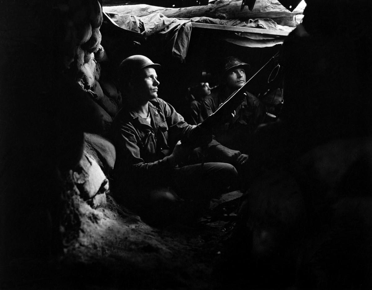 SOLDIERS SEEK SHELTER