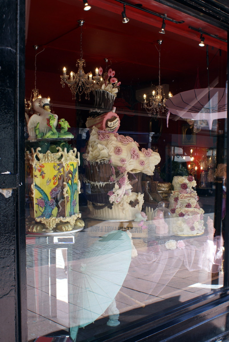 Don't forget to visit the famous Choccywoccydoodah shop, everything except the umbrellas was made of chocolate.