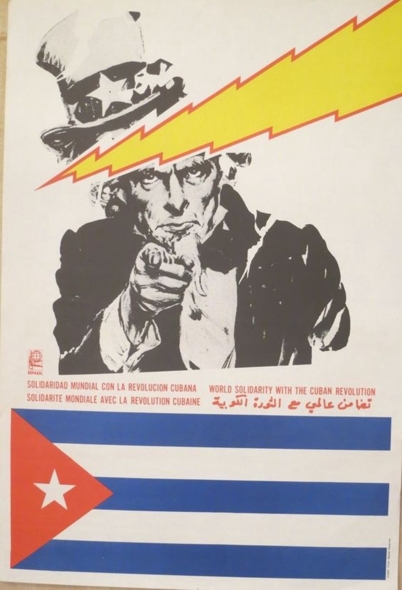 This piece of Cuban propaganda was aimed at Latin America.