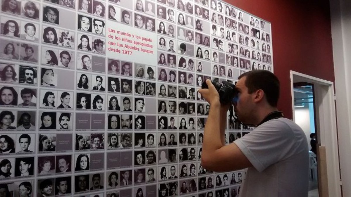 These are collections of photos from families whose children and grandchildren had disappeared.