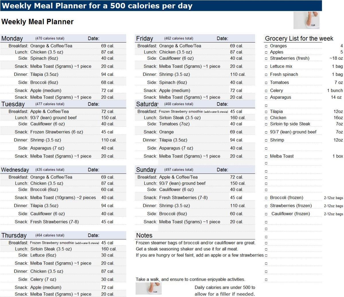 Sample Calorie Diet Plan | Diety3.Stream - 500 Calorie Diet Menus
