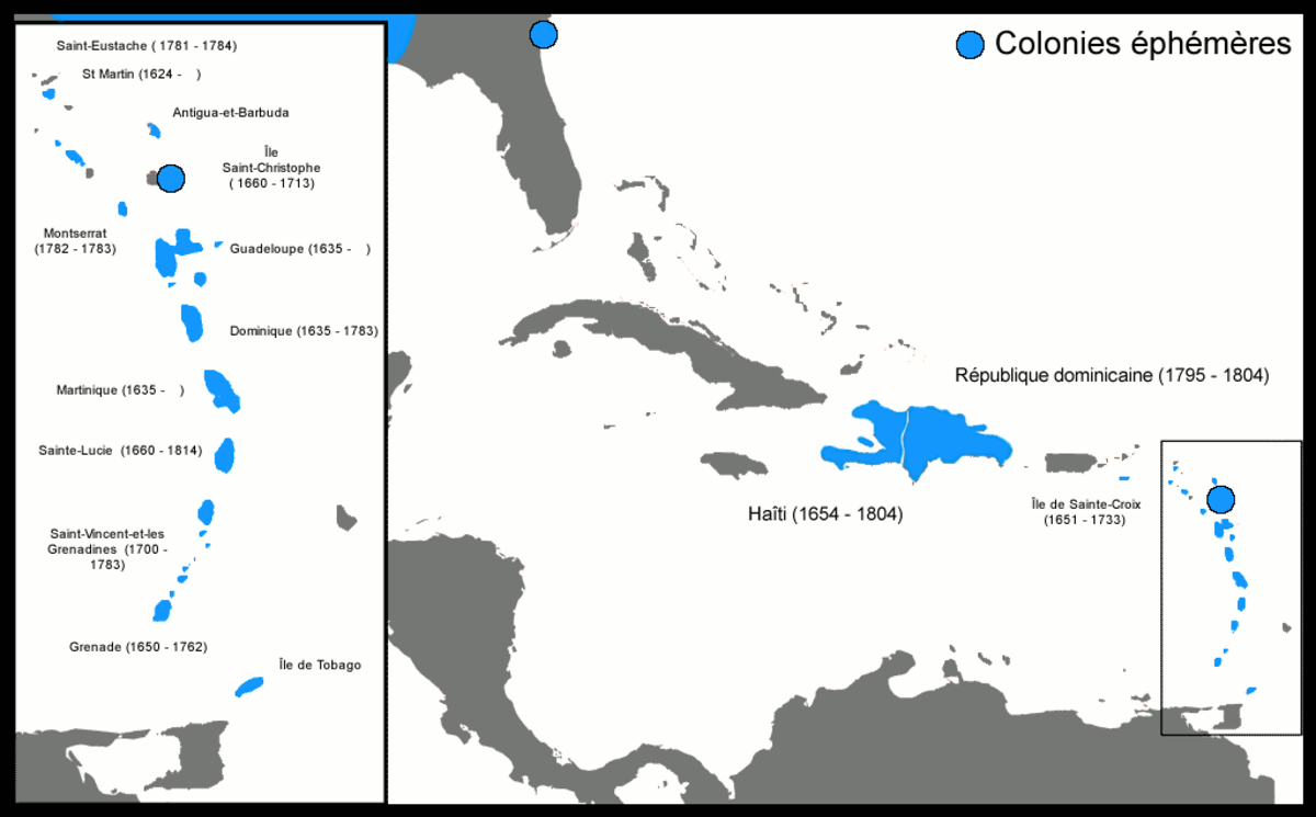 French colonies in the Caribbean