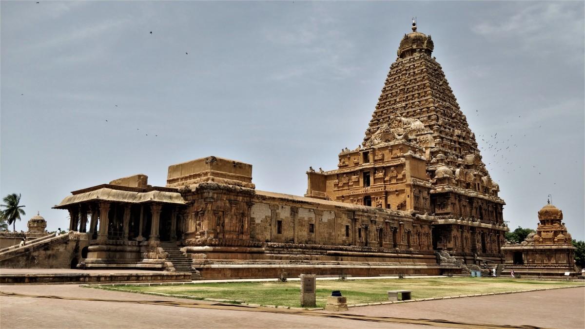 Vridishwararar temple, Tanjavur -- 10.7828 degrees North, 79.1318 degrees East.