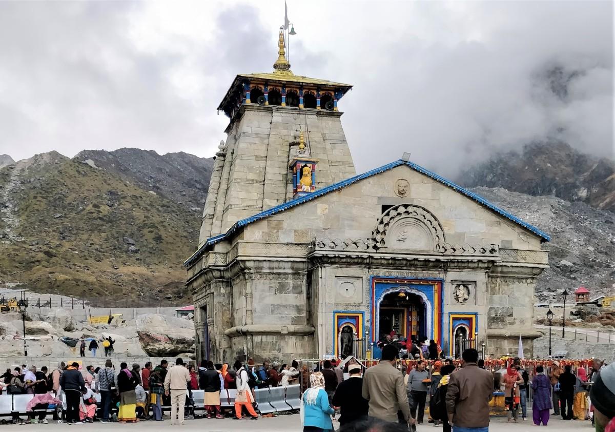 Kedarnath Shiva temple -- 30.7352 degrees North, 79.0669 degrees East