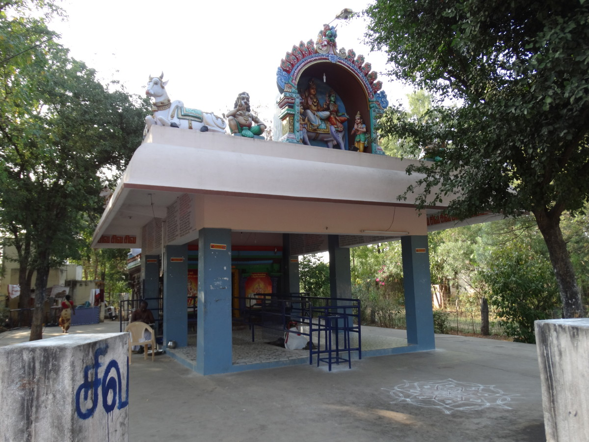NIRUTHI Lingam (Controller of Aries) -- 12.2340 degrees North, 79.0250 degrees East.