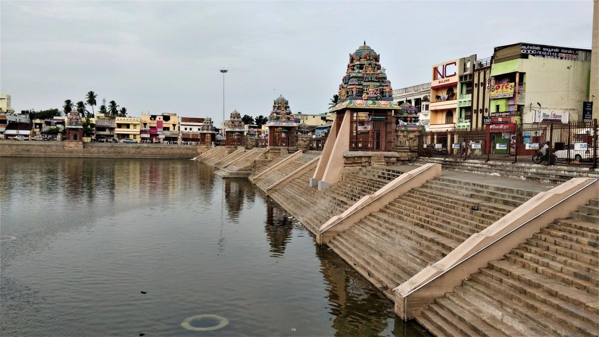 ADI KUMBHESWAR Temple, Kumbhakonam -- 10 degrees 57 minutes 30 seconds North, 79 degrees 22 minutes 16 seconds East.