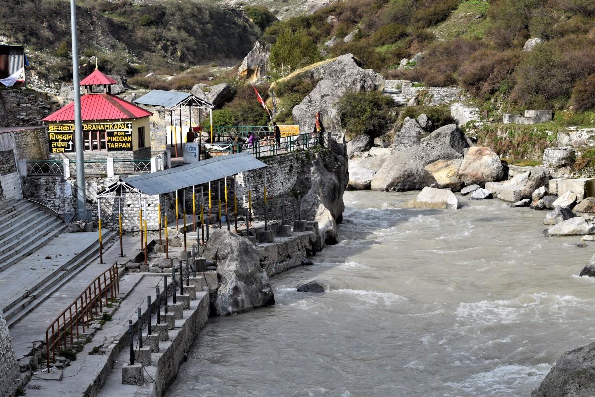 Holy river Alakananda at Badrinath Dham -- 30.7433 degrees North, 79.4938 degrees East