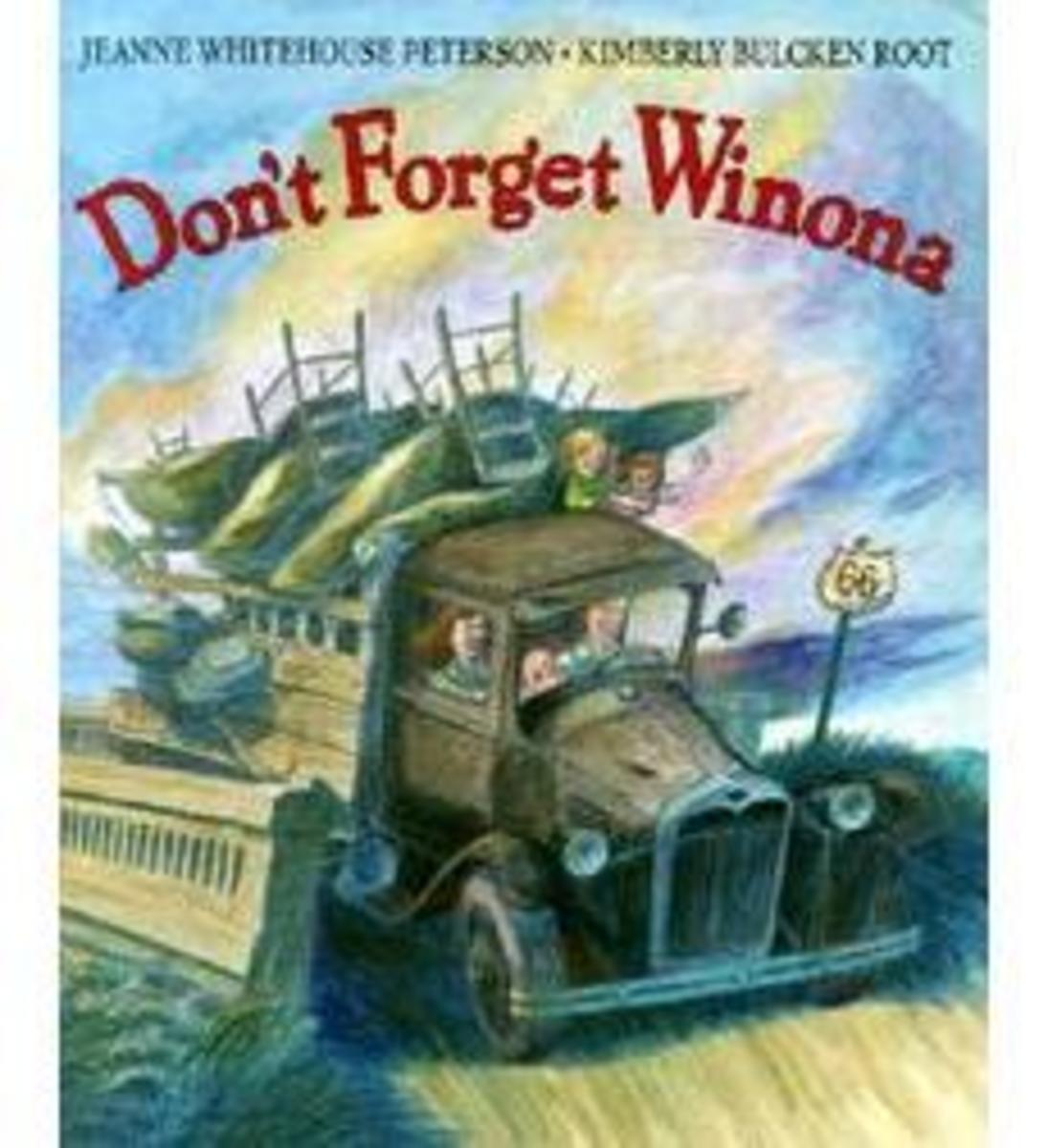 Don't Forget Winona by Jeanne Whitehouse Peterson - Image is from scholastic.com