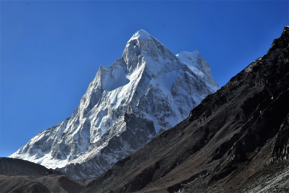 Mount Shivling : 30.8769 degrees North, 79.0656 degrees East.