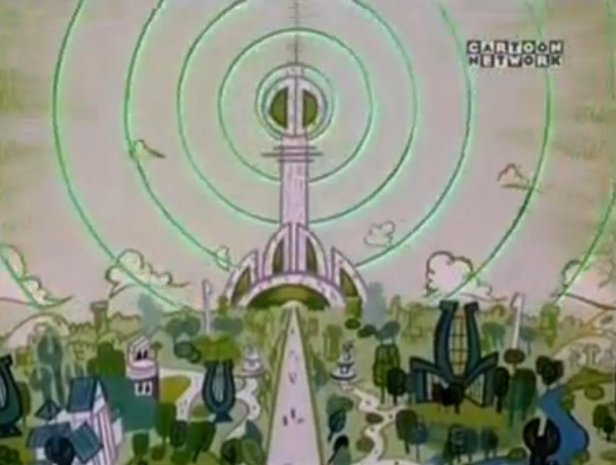 Shot of futuristic utopia, Dextopia