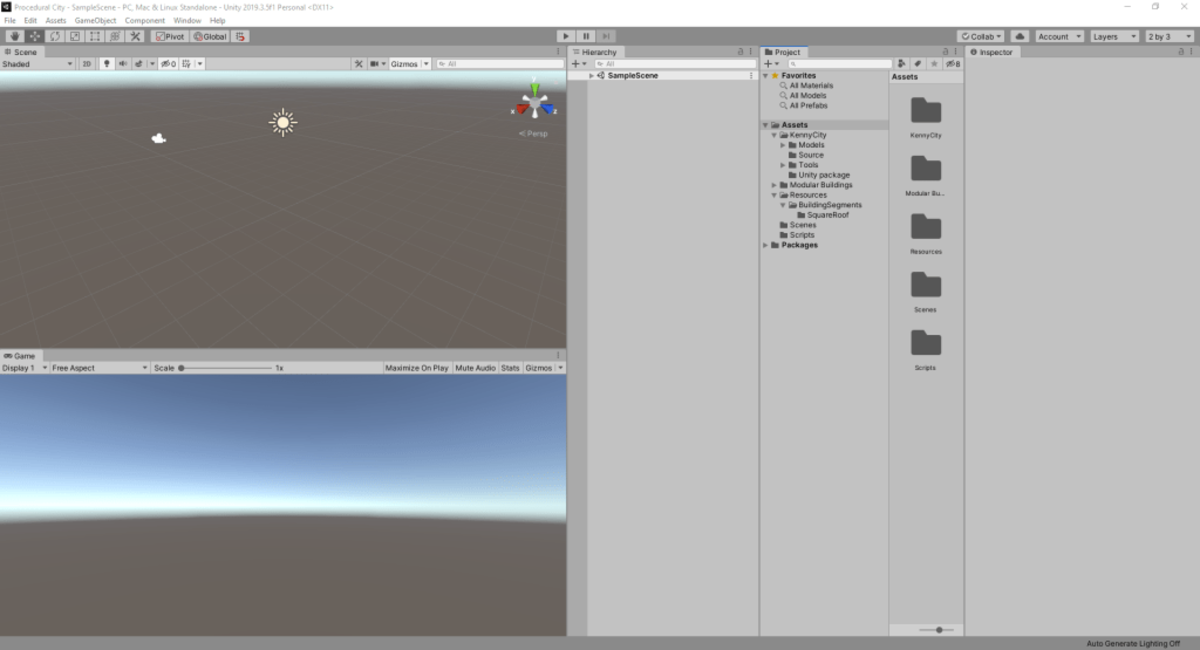 The Unity editor, by default, holds several windows serving various functions. These windows can be resized, moved, closed, and other windows can be opened. You can save a layout in the Window menu.