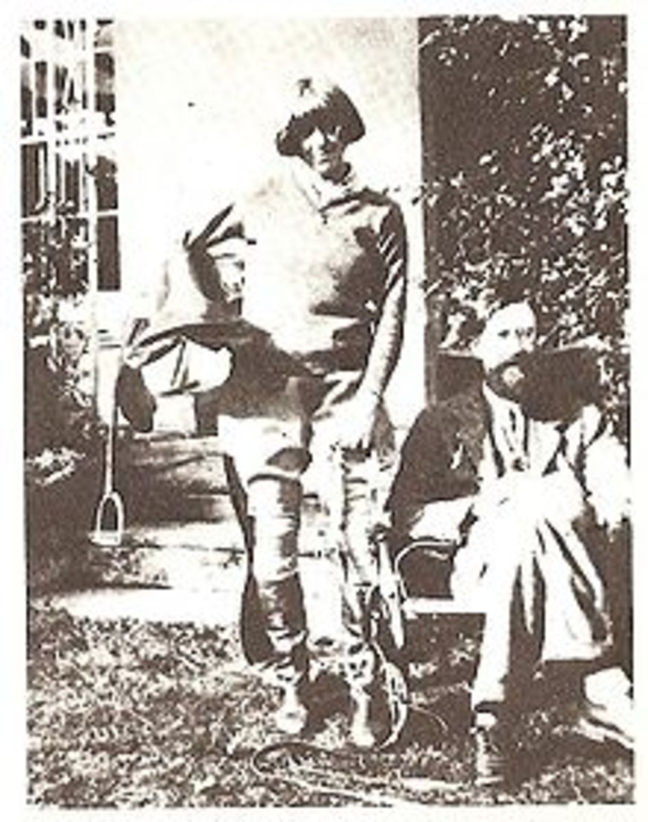 Dora Carrington with Lytton Strachey