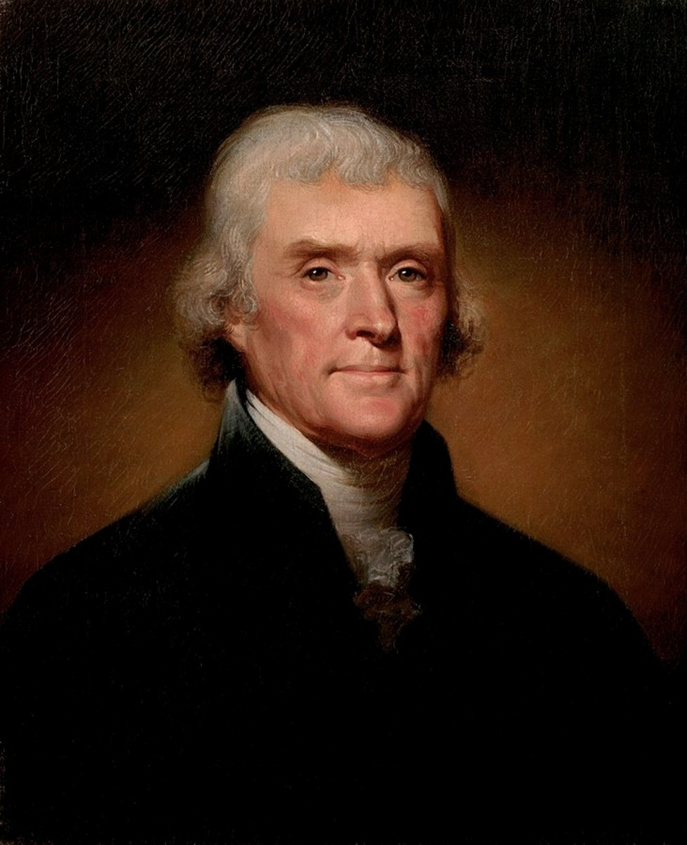American Founding Father Thomas Jefferson was third President of the United States, founder of University of Virginia, and author of the Declaration of Independence.