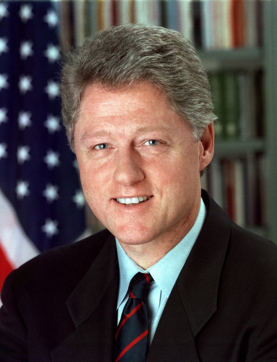 Bill Clinton was the 42nd US President. He oversaw the longest period of peacetime economic expansion in American history. Clinton was the second President to be impeached.