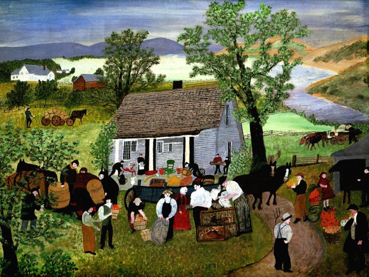 """""""Morning Day on the Farm,"""" by Anna Mary Robertson Moses (Grandma Moses)."""