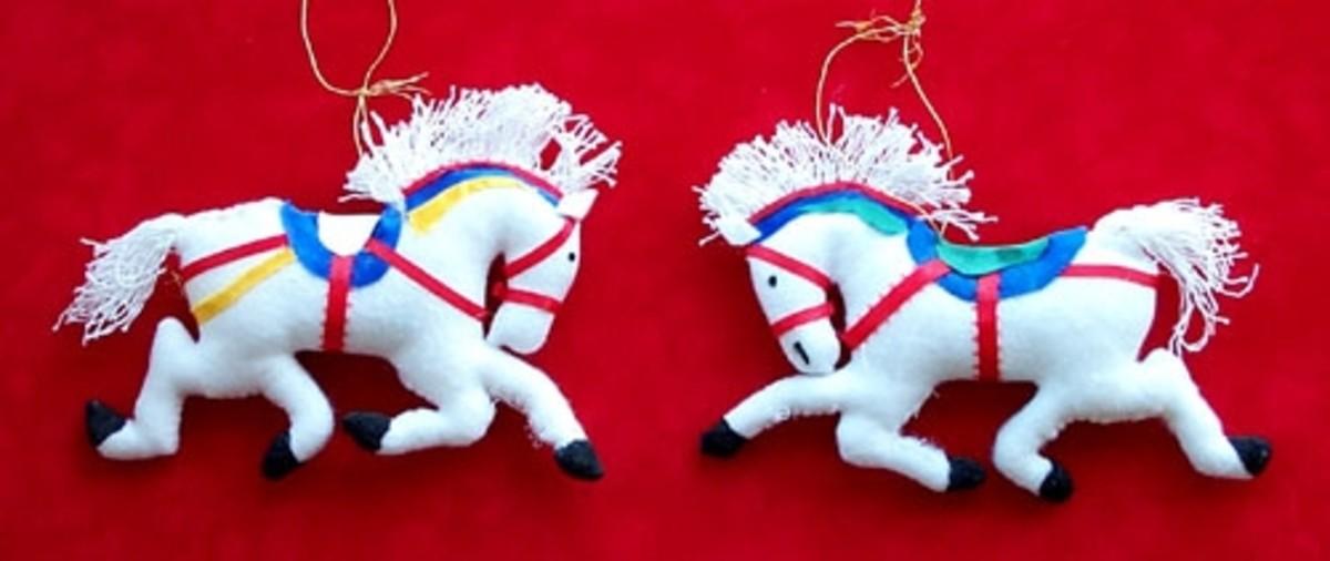 Carousel Horse Christmas Tree Ornaments