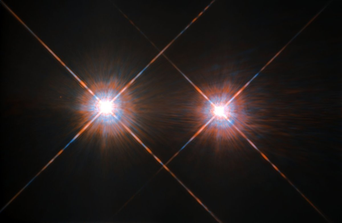 Hubble Image of Alpha Centauri A and B