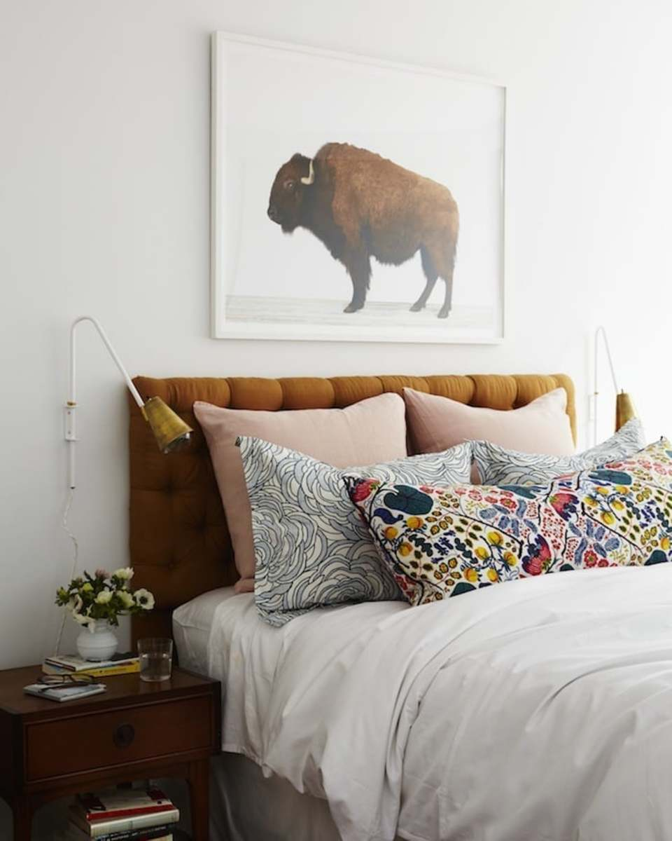 Make the colors pop. Pick something odd for your walls: like a buffalo.
