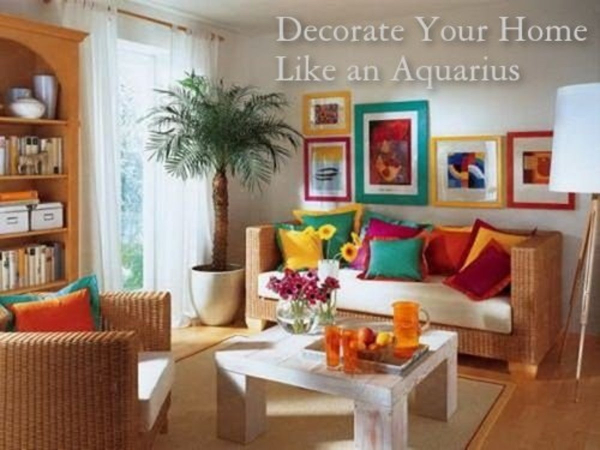 For an Aquarius home, pick a variety of colors to make rooms pop.