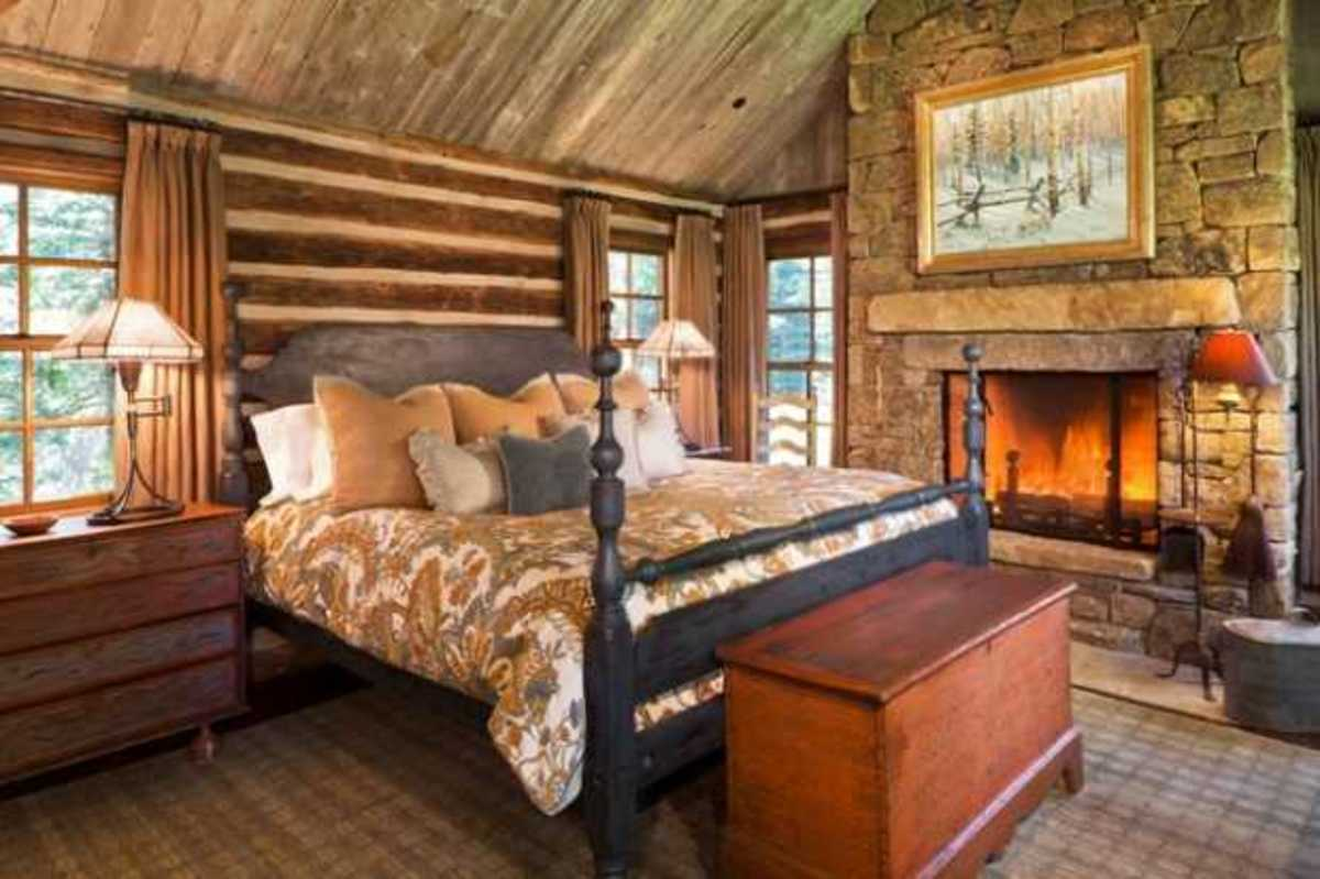 The bedroom should feel cozy. Use neutral colors and earth tones. Blend wood and metal and marry it with fabric.