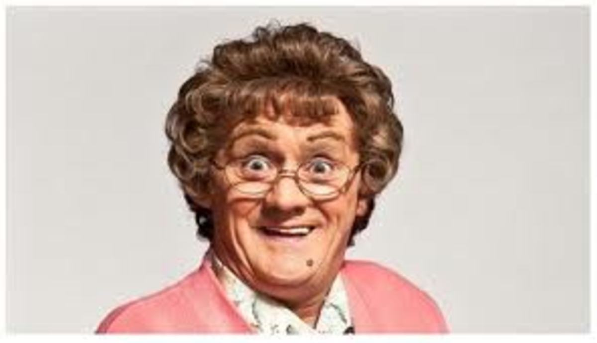 Agnes Brown; Catch phrase 'total fecking s***e'.  Agnes is a loud foul-mouthed Irish Matriarch who is always looking out for her family since the dath of her husband.  She seems to be a very nosey lady whom is interested in other people lives.