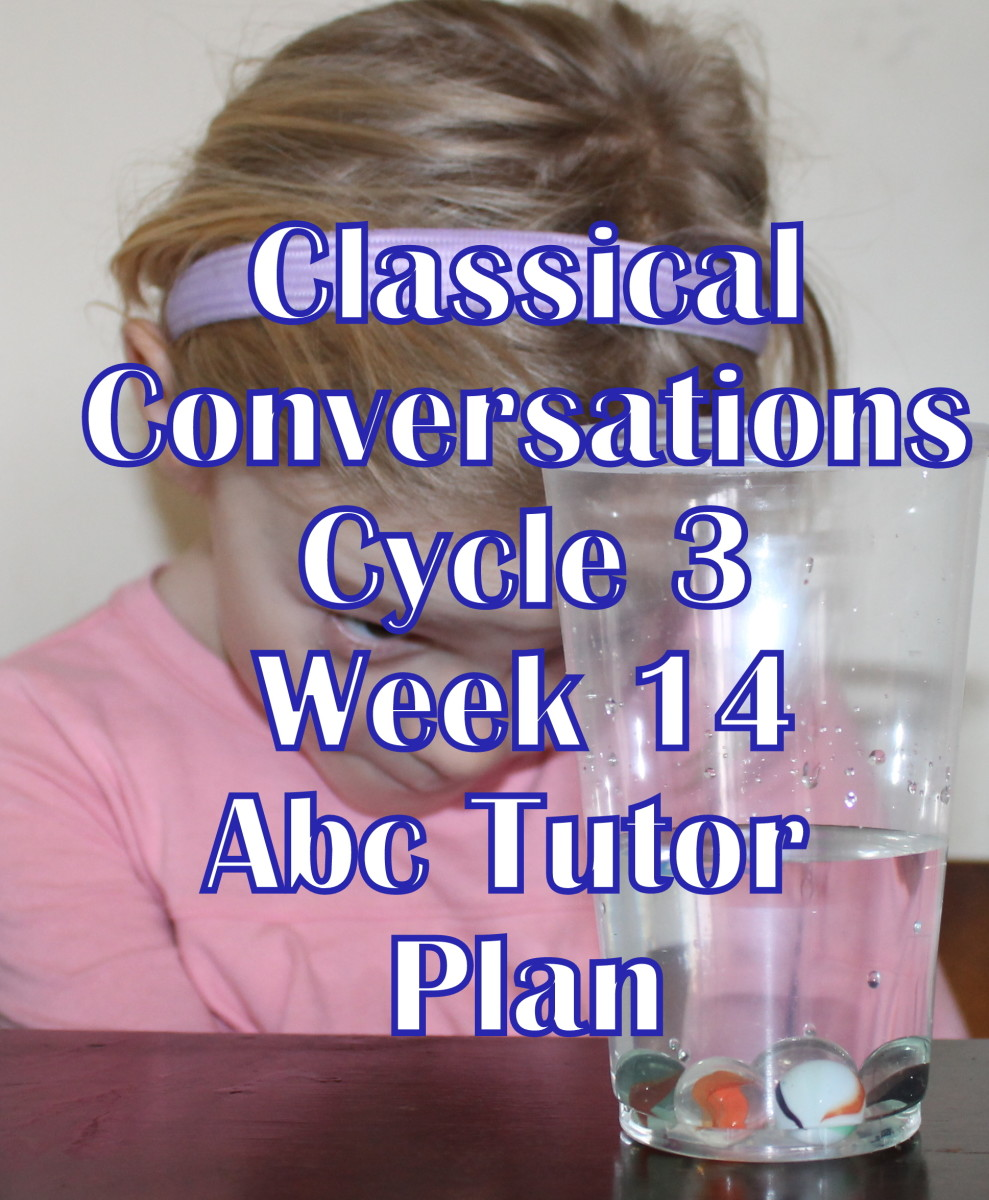 Classical Conversations CC Cycle 3 Week 14 Lesson for Abecedarians - CC C3W14