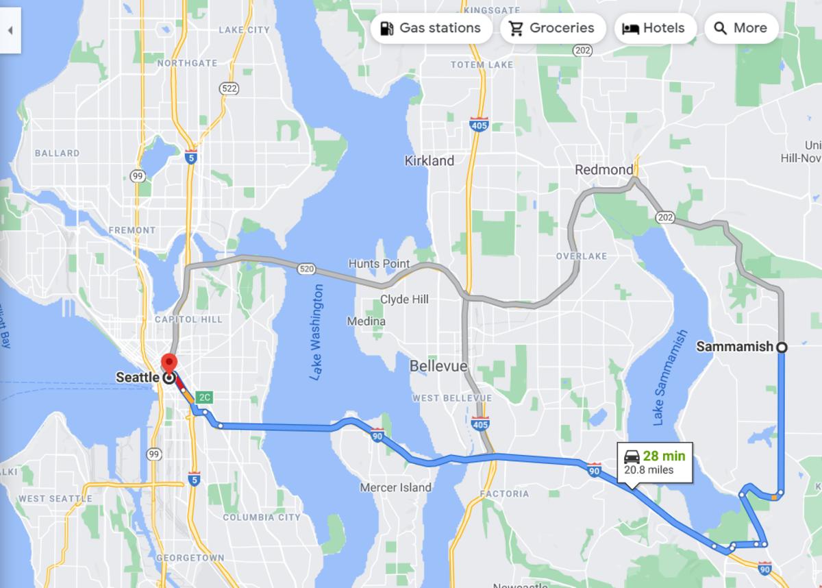 Seattle to Sammamish