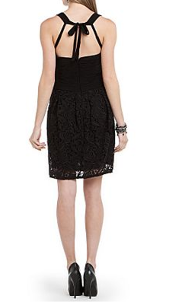 BCBG floral crochet dress