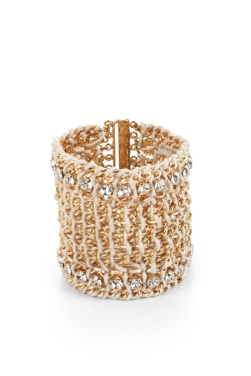 BCBG crocheted chain bracelet