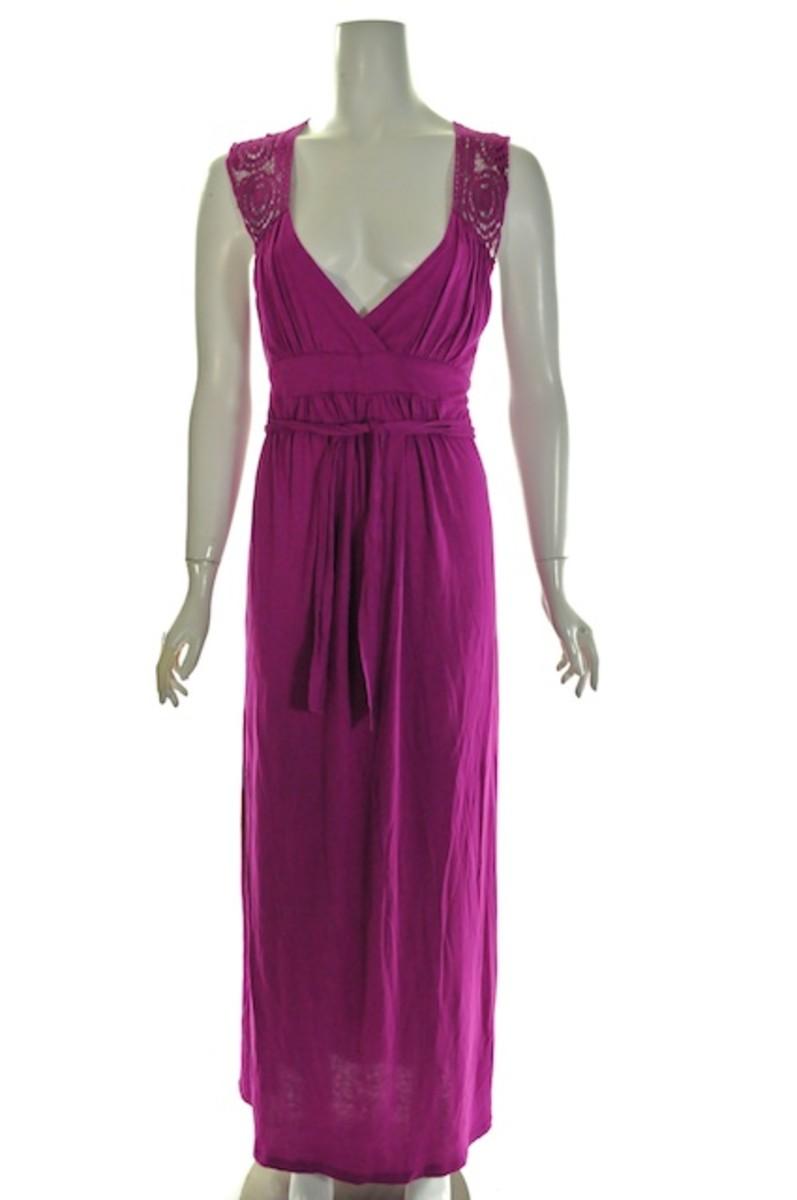 BCBG crochet maxi dress