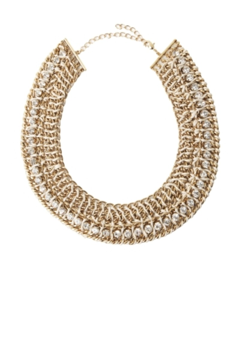 BCBG crocheted chain necklace
