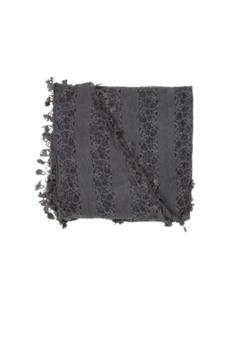 BCBG lacy crochet scarf