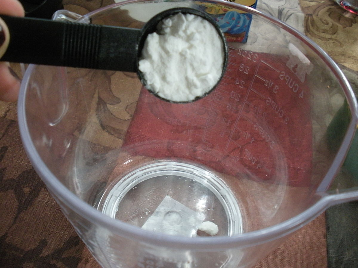 Adding the Baking Soda