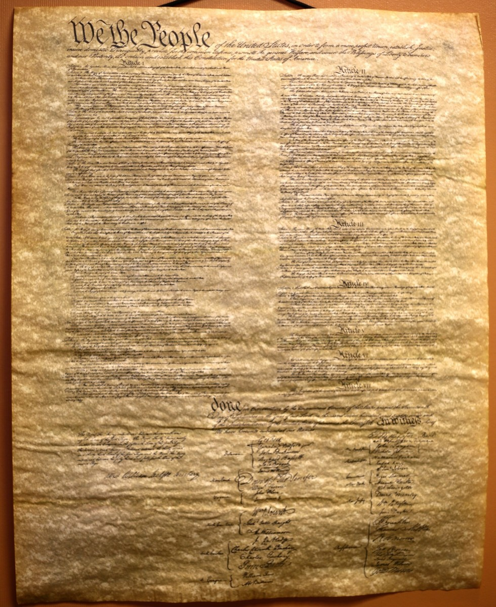 Washington took an oath to preserve, protect and defend the Constitution.  Many other public servants and military officers also take an oath to defend the Constitution against all enemies, both foreign and domestic.