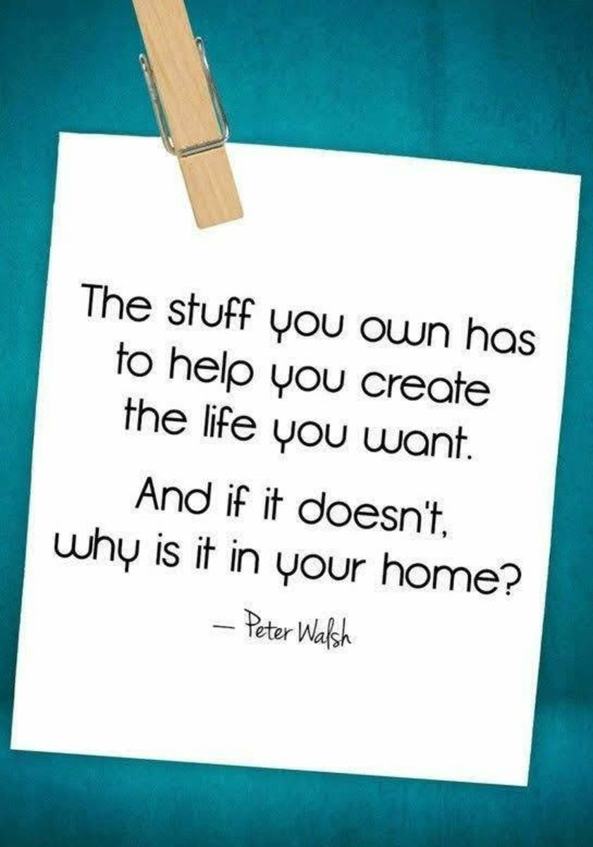 Clutter kills creativity and impedes movement. Take emotional ownership of your home and habits.