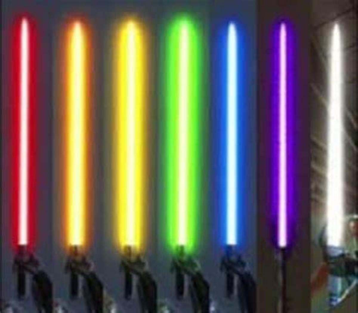 Lightsaber colors in Star Wars