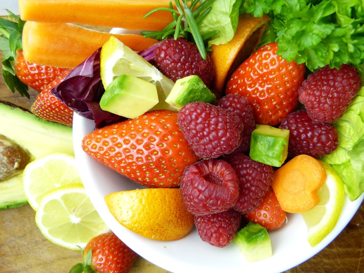 Eat colorful fruits and vegetables