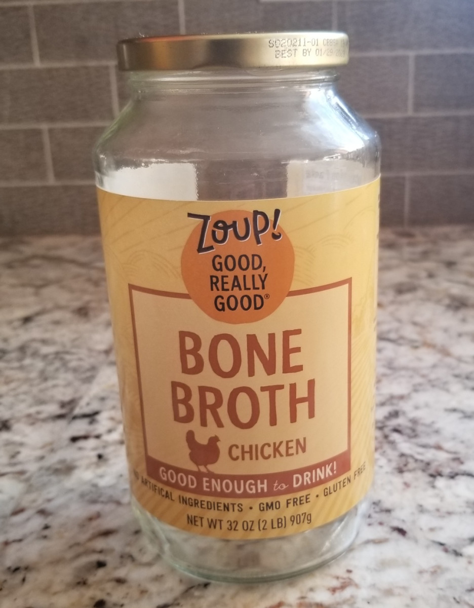 Purchased bone broth will provide extra nutrients in your soup without the time it takes to make your own bone broth.