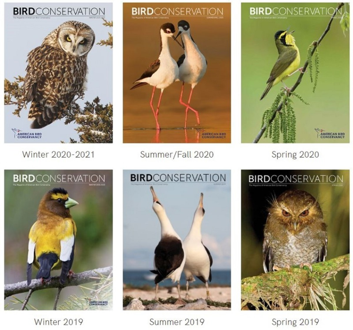 The Bird Conservation magazine is included with membership in the ABC.